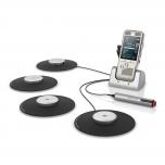 Philips Meeting-Recorder DPM8900: 4 Mikrofone für die Aufnahme von Meetings, Fernbedienung, PocketMemo Diktiergerät und Ladestation