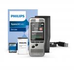 Philips Diktiergerät DPM6000 mit SpeechExec Dictate Software, Akku, SD-Karte, USB-Kabel und Schutzhülle
