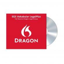 Verpackung des EGS Vokabular LegalPlus für Nuance Dragon Legal Group
