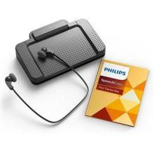 Philips SpeechExec Transkriptionsset LFH7277: Pedal, Kopfhörer und SpeechExec Pro Transcribe Software