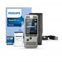 Philips Diktiergerät DPM7000, SpeechExec Dictate Software, Akku, SD-Karte, USB-Kabel und Schutzhülle