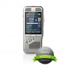 """Philips Diktiergerät DPM8100 Frontansicht mit Logo """"Certified by Nuance"""""""