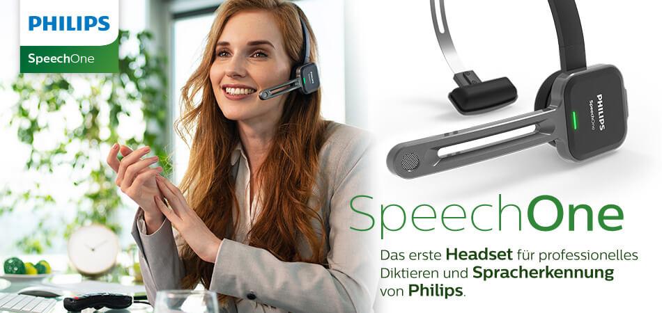 Philips SpeechOne neues Headset-Diktiergerät