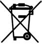 Symbol: nicht im Hausmüll entsorgen